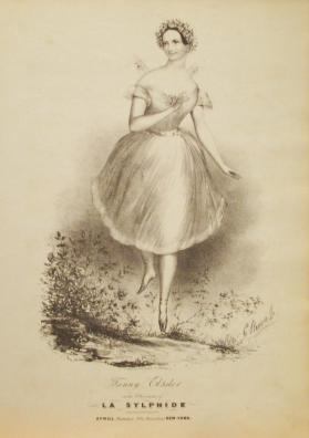 'Fanny Elssler in the Character of La Sylphide' Composer Unknown