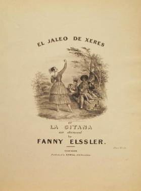 'El Jaleo de Xeres, or La Gitana' Composer Unknown