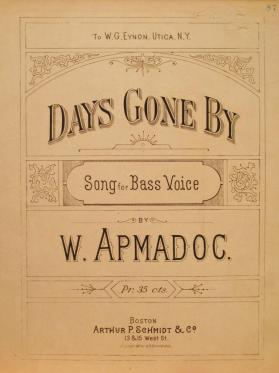 'Days Gone By' BY W. Apmadoc