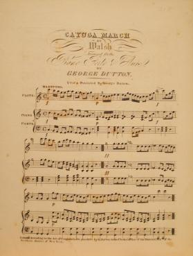 'Cayuga March' By Walsh, Arranged by George Dutton